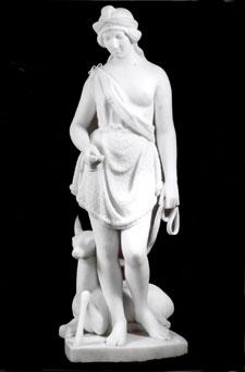 POCAHONTAS, modeled c. 1850, carved 187? Marble on...