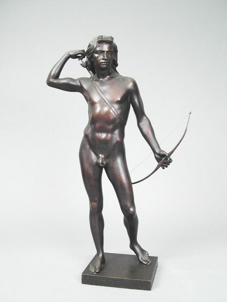 THE CHOOSING OF THE ARROW, 1849 Bronze 22 1/4 x 11...
