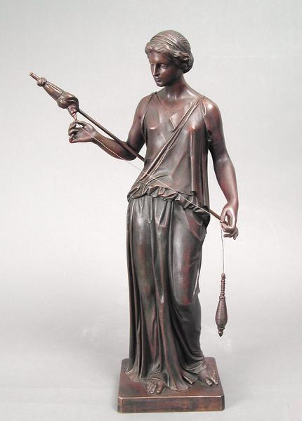 FILATRICE, 1850 Bronze 20 x 12 x 7 inches...