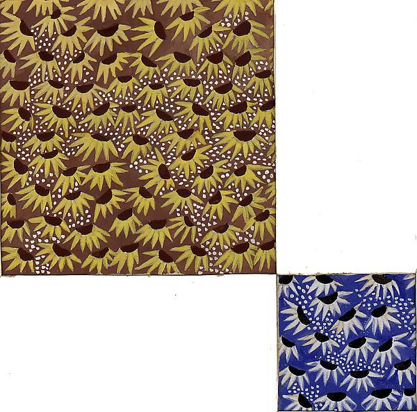 TEXTILE DESIGN, c. 1928 Gouache 10 x 7 1/2 inches...