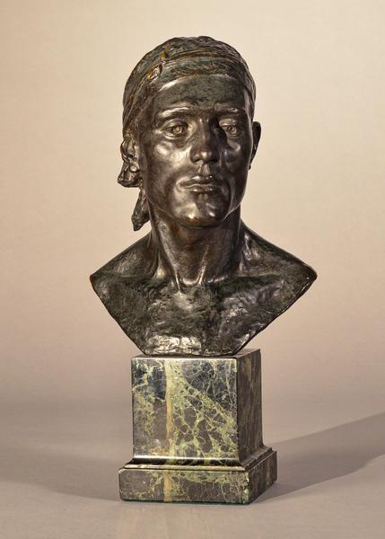 HEAD OF A SPANISH PEASANT, 1913 Bronze on origi...