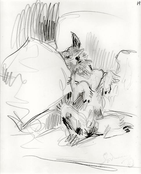 PLAYFUL DOG, c. 1925 Graphite 10 x 8 1/2 inches Si...