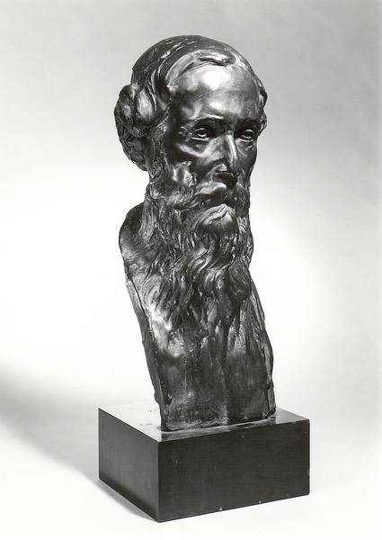RABINDRANATH TAGORE, 1913 Bronze on Marble Base 25...