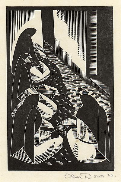 BREAD SELLERS, 1933 Wood engraving 7 x 4 1/2 inche...