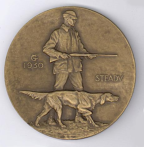 STEADY, 1930 Bronze 2 7/8 inch diameter Signed: Ar...