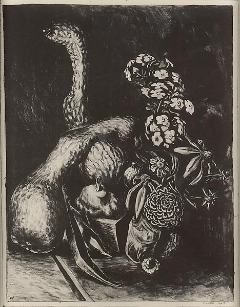 SQUASH AND FLOWERS, 1926-27 Zinc plate lithograph...