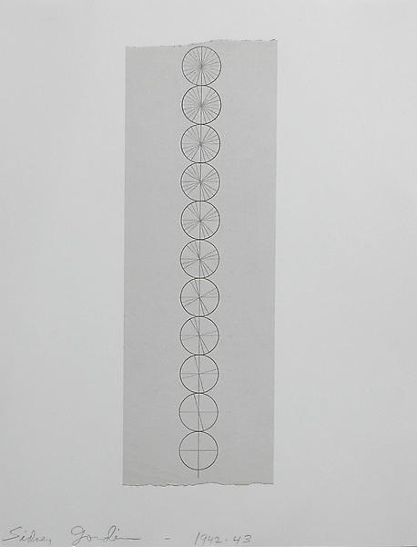 COMPOSITION #3 1942-43 Graphite, laid down 8 3/4 x...