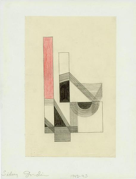 COMPOSITION #6, 1942-43 Graphite and colored penci...