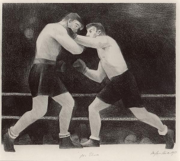 BOXERS, 1933 Lithograph 7 1/2 x 8 1/2 inches Signe...