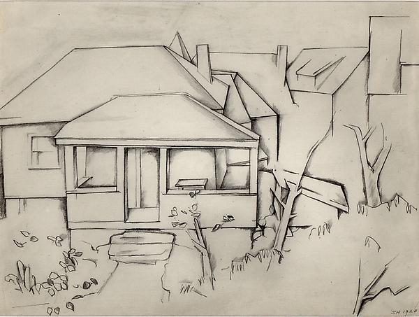 HOUSE, 1920 Graphite on paper 7 5/8 x 9 7/8 inches...