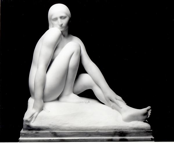 SEATED NUDE, 1920 Marble 27 x 26 x 14 1/2 inches...