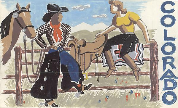 COLORADO #2, c. 1933 Gouache with traces of graphi...