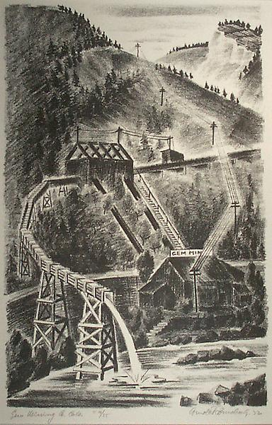 GEM MINING CO. COLORADO, 1932 Lithograph 13 1/2 x...