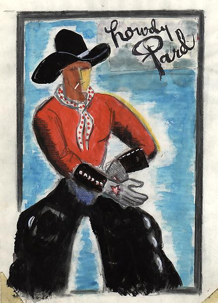 HOWDY PARD, COLORADO, c. 1933 Watercolor, ink and...