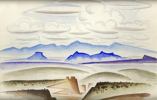 NORTHERN NEW MEXICO, c. 1927 Watercolor 10 x 13 7/...