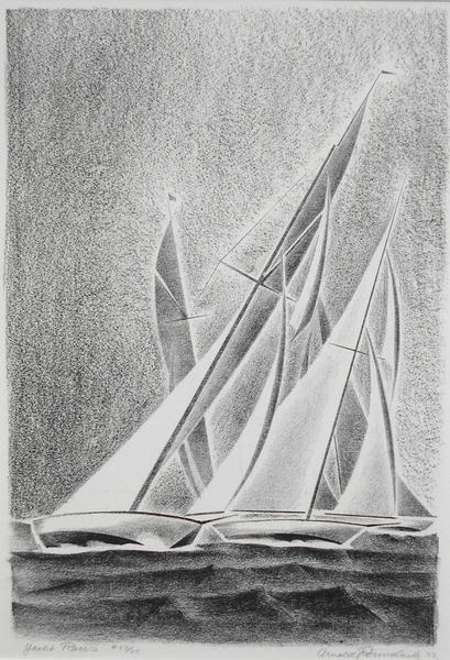 YACHT RACES, 1933 Lithograph 13 1/2 x 9 1/4 inches...