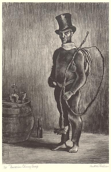 BAVARIAN CHIMNEY SWEEP, 1932 Lithograph, chine col...