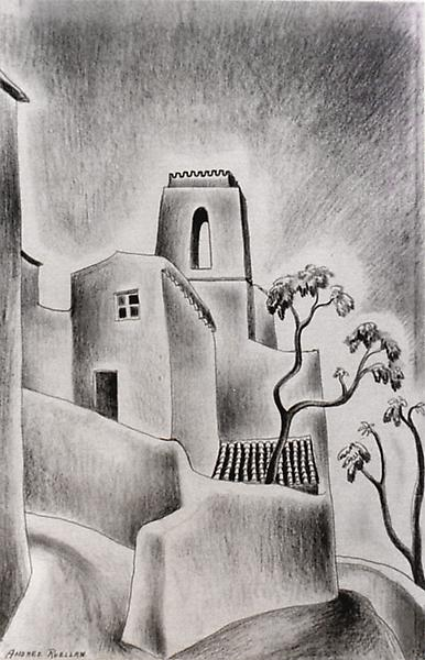CAGNES SUR MER, 1925 Crayon on paper 17 x 11 inche...