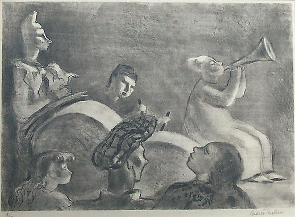 CIRCUS, 1932 Lithograph, chine collé 9 3/4...