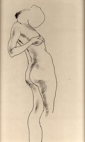 STANDING FEMALE NUDE, c. 1927 Graphite on paper la...