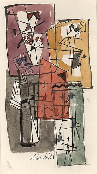 UNTITLED, 1938 Graphite, ink, watercolor on paper...