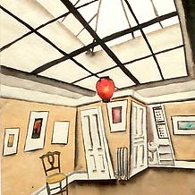 INTERIOR WITH SKYLIGHT, c. 1930