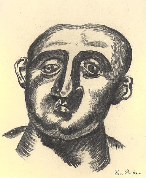 PORTRAIT OF J.B. NEUMANN, 1926 Charcoal 8 7/8 x 7...