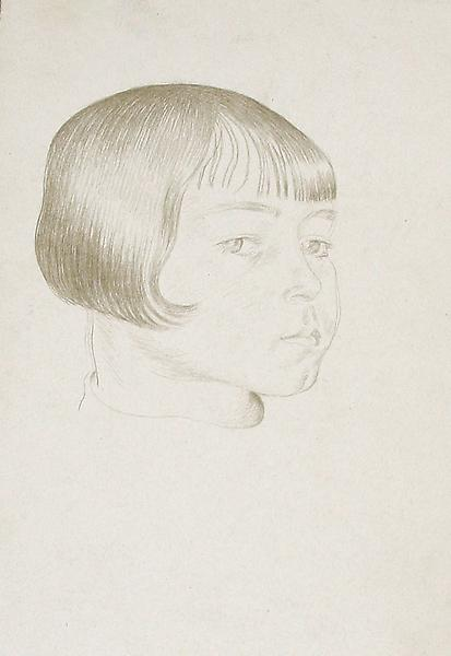 PORTRAIT OF A FRENCH GIRL, c. 1942 Silverpoint 7 1...