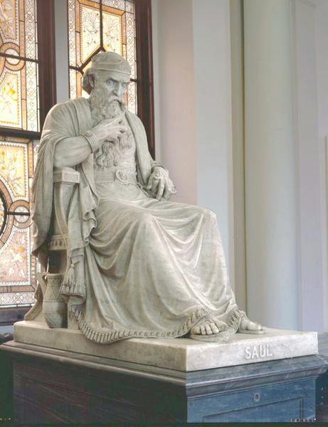 SAUL, modeled 1863, carved 1865 Marble on original...