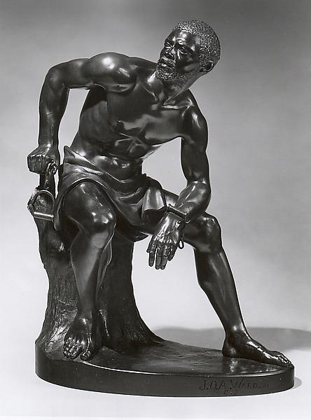 THE FREEDMAN, 1863 Bronze 19 1/2 x 15 3/8 x 9 3/8...