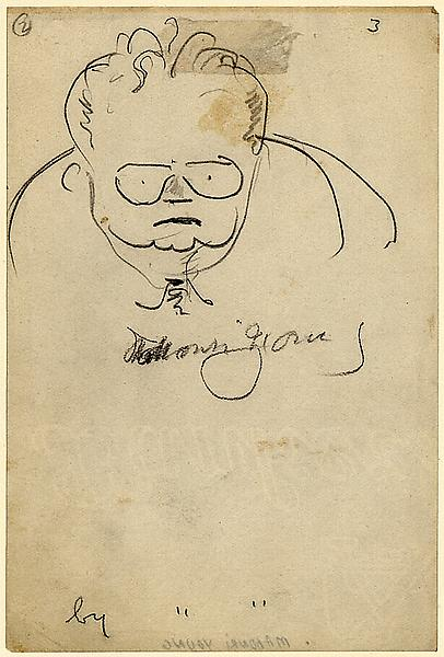 SELF PORTRAIT, c. 1935 Graphite on paper 6 x 4 inc...