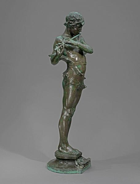 PAN FOUNTAIN, 1917 Bronze 30 x 11 x 10 inches Sign...