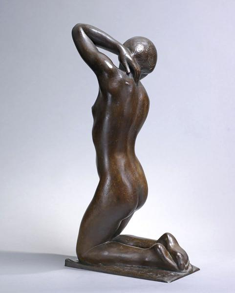 FRAGELINA, 1923 Bronze 25 3/8 x 7 x 13 inches Sign...