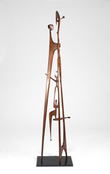 FAMILY TOTEM, 1951 Mahogany on granite base 75 x 1...