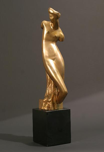 SPRING TORSO, 1925 Gilt bronze on original black m...