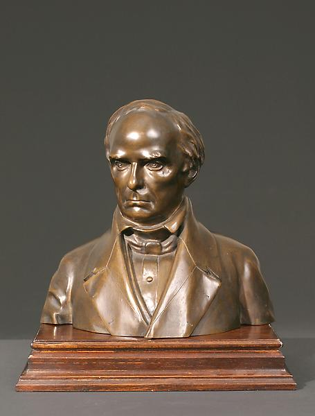DANIEL WEBSTER: PROOF CAST, c. 1853 Bronze on sepa...