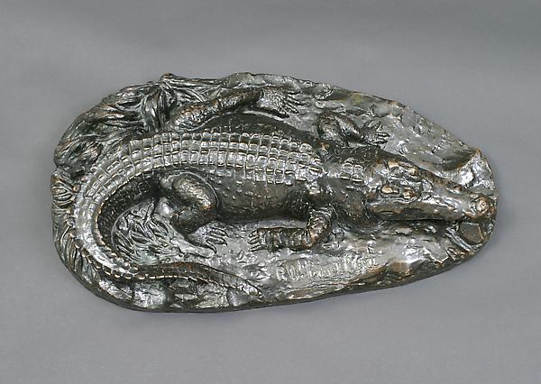 CROCODILE, 1895-96 Bronze 5 3/8 x 23 x 12 1/2 inch...