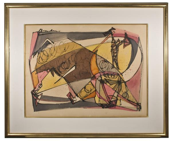 WEARY OF TREADING THE EARTH, c. 1945 Watercolor an...