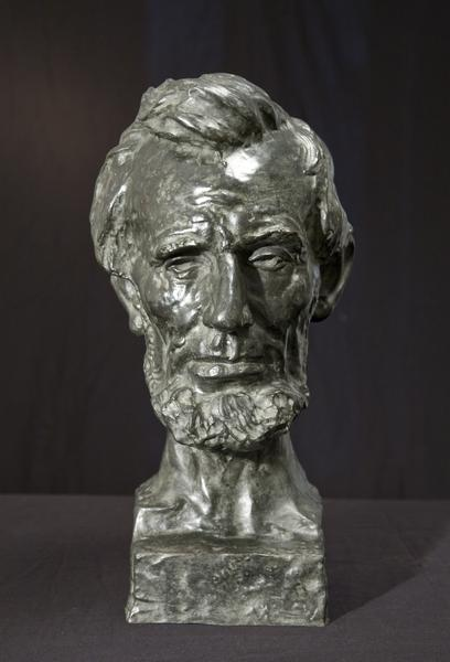 ABRAHAM LINCOLN, modeled c. 1907 Bronze 19 x 9 1/2...