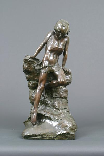 THE BATHER, c. 1896 Bronze 23 3/4 x 11 1/4 x 11 1/...