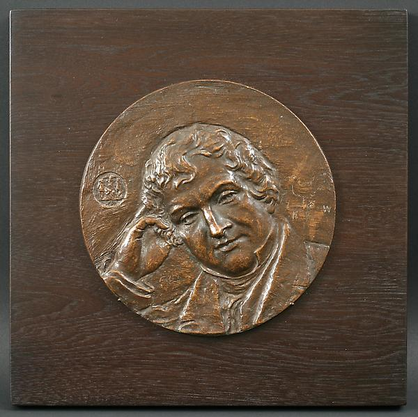WASHINGTON IRVING PLAQUE, 1907 Bronze 7 inches in...