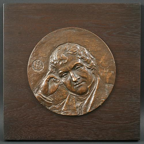 WASHINGTON IRVING PLAQUE, 1907Bronze7 inches i