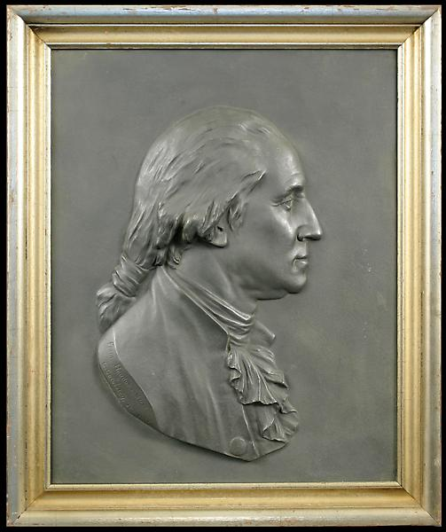 PORTRAIT OF GEORGE WASHINGTON, 1877 Cast iron reli...