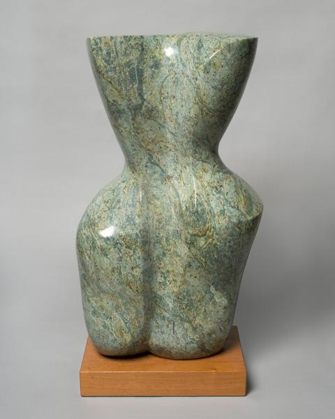 TORSO, 2008 Marble on wood base 25 1/4 x 12 1/2 x...