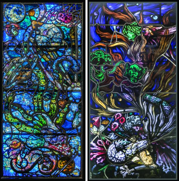 WHITNEY STUDIO STAINED GLASS WINDOWS, 1918 Stained...