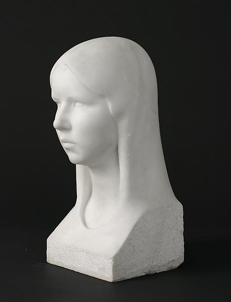 BEATRICE, c. 1925 Marble 17 x 7 1/2 x 7 1/2 inches...