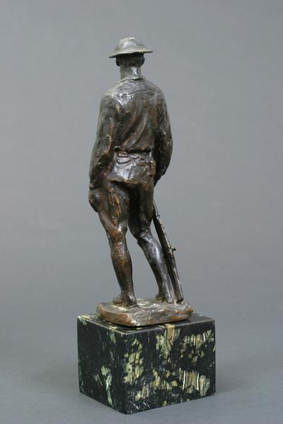DOUGHBOY, 1919 Bronze on marble base 9 1/4 x 3 1/4...