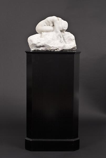 EVE, 1907 Marble on custom wood pedestal 11 3/4 x...