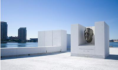 Four Freedoms Park featuring Jo Davidson's Bust of...