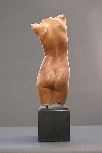 FEMALE TORSO, c. 1920 Terra cotta 15 3/8 x 3 3/4 x...